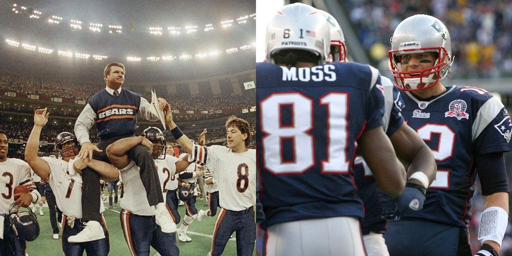 1985 Chicago Bears vs 2007 New England Patriots