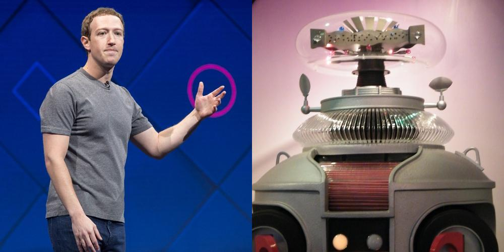 Mark Zuckerberg vs Robot
