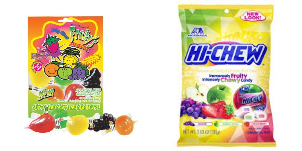 Ju-C Jelly Fruity Candy vs Hi-Chew